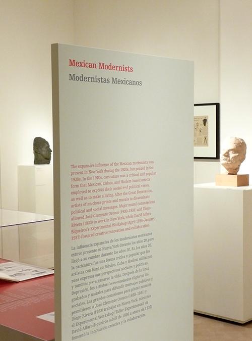 Bilingual exhibition design El Museo del Barrio