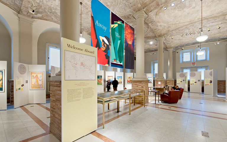 An exhibit at the library brings new visitors to the institution.